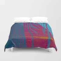gemma correll Duvet Covers featuring Feel the texture III by Magdalena Hristova