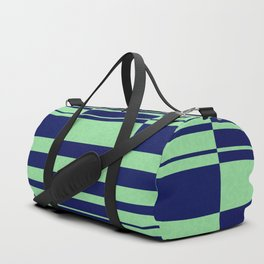 Abstract striped pattern. blue and green . Duffle Bag