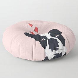 Bulldog Love Floor Pillow