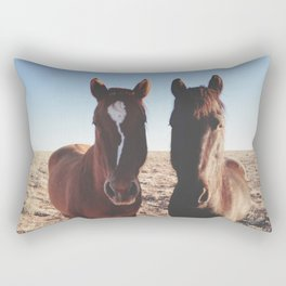 Horse Friends Rectangular Pillow