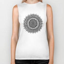 Zentangle - Sunflower Biker Tank