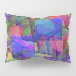 Pieces Of colour - Abstract, colour fragments Pillow Sham