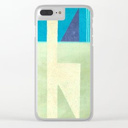 Solitaire du Figaro (blue) Clear iPhone Case