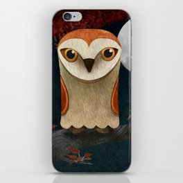 Deep in the Night, Owl Eyes Bright iPhone Skin