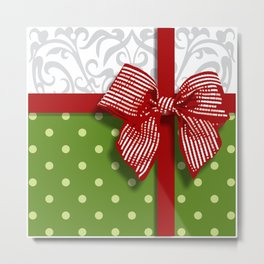 christmas parcel Metal Print