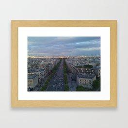 Paris Boulevards Framed Art Print