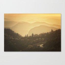 Black Balsam Sunrise  Canvas Print