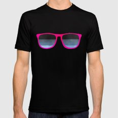 pink shades MEDIUM Black Mens Fitted Tee