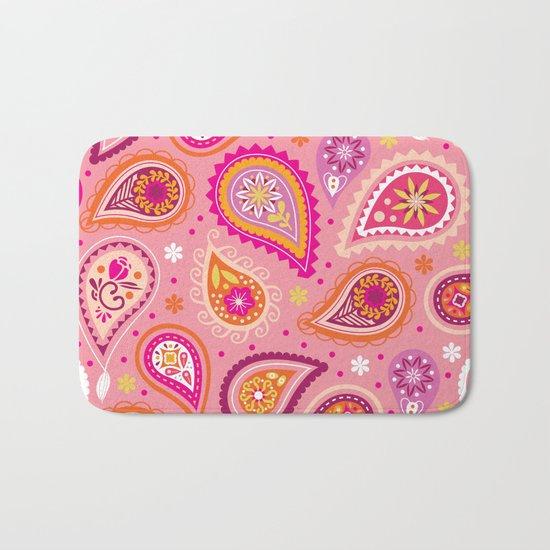 Colorful summer paisleys Bath Mat