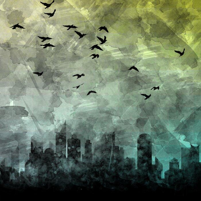 blue city Duvet Cover