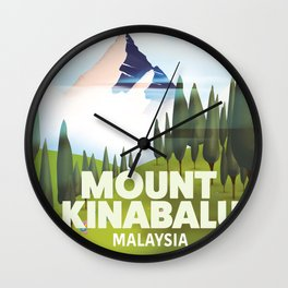 Mount Kinabalu Malaysia Wall Clock