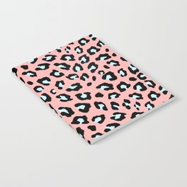 Leopard Print - Icy Peach Notebook