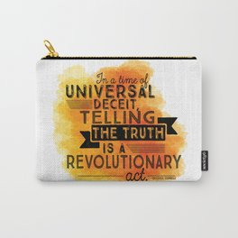 Revolutionary Act - quote design Carry-All Pouch