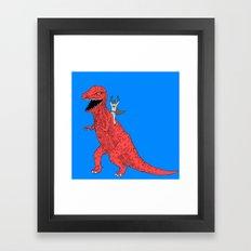 Dinosaur B Forever Framed Art Print