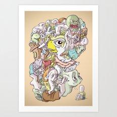 Thinking Too Much Art Print