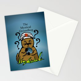 The Mystical Groundhog Stationery Cards