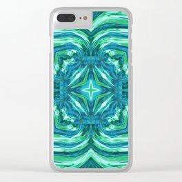 Tropical Leaf Fashion Design Clear iPhone Case