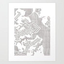 annapolis city print Art Print
