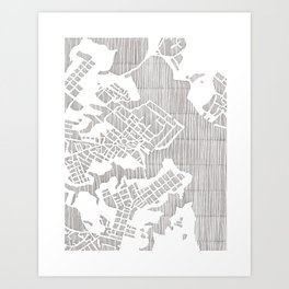 annapolis city print Art Print