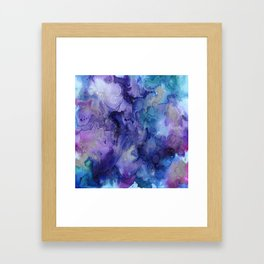Watercolor Ink Abstract Framed Art Print