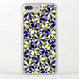 Crazy psychedelic art in chaotic visual color and shapes - EFG220 Clear iPhone Case