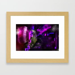 Space Galaxy Cube Planets Framed Art Print