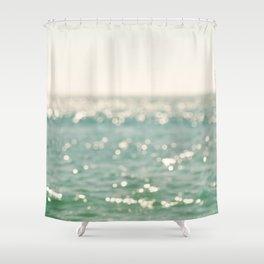 beach. bokeh sparkle. ocean. La Mer Shower Curtain