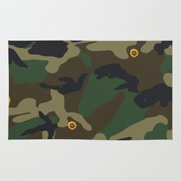 sunflower camo Rug