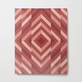 Broken geometric pattern (Shades of Terracotta) Metal Print