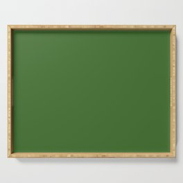 Green | Solid Colour Serving Tray