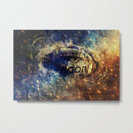 Abstract american football Metal Print