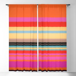 Sunset Stripes Blackout Curtain