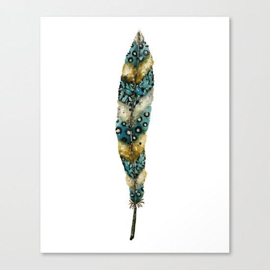 Moonlight Feather Canvas Print