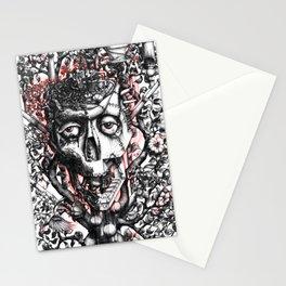 Steampunk machine skull Stationery Cards