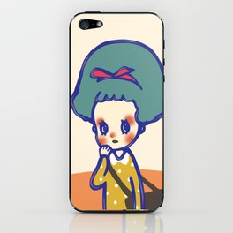Thinking girl  iPhone Skin