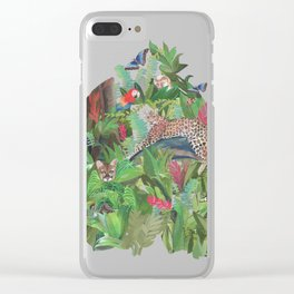 Into the Wild Emerald Forest Clear iPhone Case