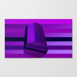 Cylinder and stripes Canvas Print