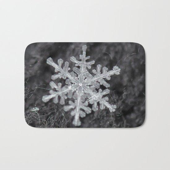 Snowflake Closeup #1 Bath Mat