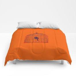 Orange Birdcage Comforters