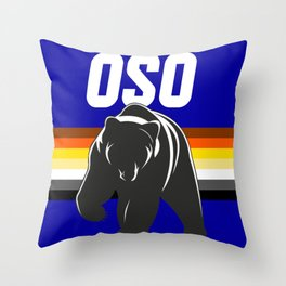 OSO Bear art for gay bears LGBT PRIDE SEASON Throw Pillow