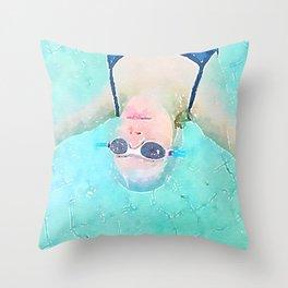 Carefree Summer Throw Pillow