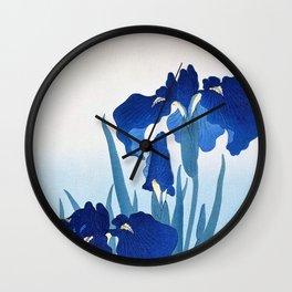 Iris In Mist Wall Clock