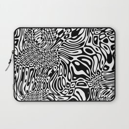 Black  and white psychedelic optical illusion Laptop Sleeve
