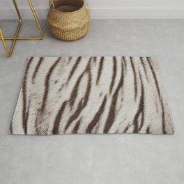 White tiger skin fur pattern Rug
