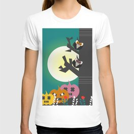Owls in the moonlight T-shirt