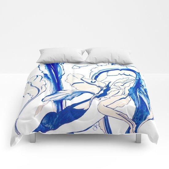 Plant in Blue Marker - Leaf of Life Miracle Leaf - Original Blue Comforters