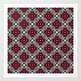 Stylish red pattern Art Print
