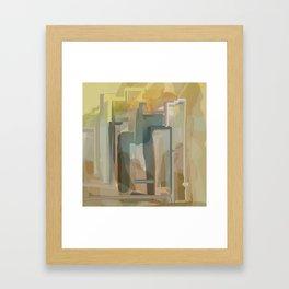Golden City Framed Art Print