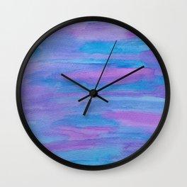 Summer Twilight Abstract Wall Clock