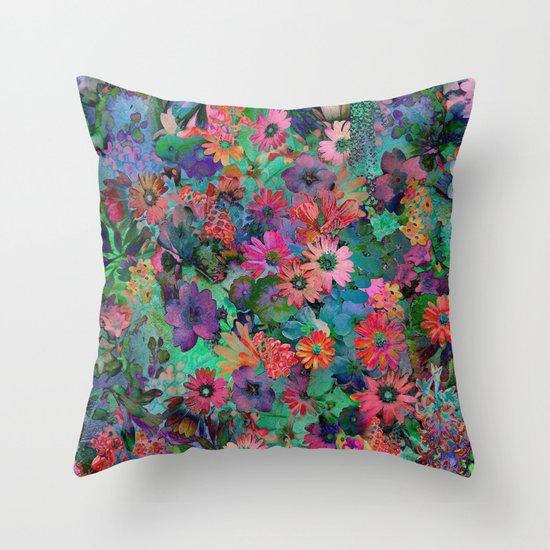 a small piece of grandma 39 s garden throw pillow by klara